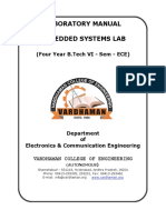 Embedded Lab manual