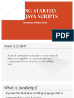 Getting Started With Java Scripts