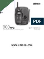 Uniden EXAI378om