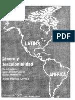 Mignolo Walter - Genero Y Descolonialidad