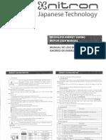 NT-7750-110V Instruction Manual servo motor