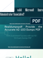 Microsoft (Azure) AZ-103 Exam Dumps PDF, Latest AZ-103 Exam Test Question