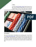 6 Tips for Winning Poker Online