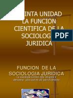 6 Quinta Unidad La funcion cientifica de la Sociologia Juridica