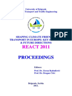 Zoran Radmilović, Dragan Čišić (eds.) - Shaping Climate Friendly Transport in Europe_ Key Findings & Future Directions, REACT 2011, Proceedings-University of Belgrade – The Faculty of Transport and Tr