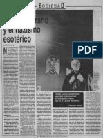 Articulo_1992_La Nacion_Nazismo esoterico