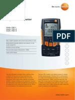 testo-760-Data-sheet