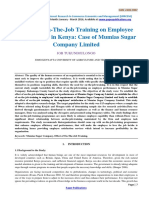 Effect of on-The-Job Training on Employee Performance in Kenya-594