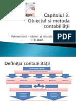 Obiectul si metoda contabilitatii