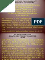 GdDS Vorlesung 4. Althochdeutsch. Vokalsystem