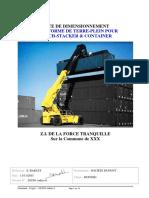 NOTE DE DIMENSIONNEMENT PLATEFORME DE TERRE-PLEIN POUR REACH-STACKER & CONTAINER(1)