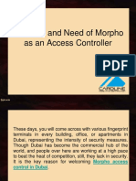 Features and Need of Morpho as an Access Controller