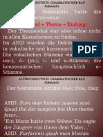 GdDS Vorlesung 5. Althochdeutsch. Grammatischer Bau.  Morphologie