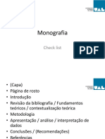Monografia-check list