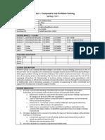DISC112 - Computer and Problem Solving - Mahira Ilyas Spring 2020