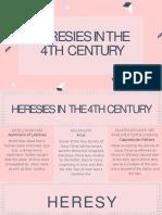 HERESIES 4TH CENTURY