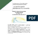 """16.12.10 Milano. Spettacolo teatrale """"La Notte Santa"""""""
