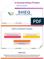 Workplace Safety Awareness and Safety Statement Training
