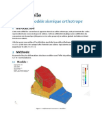 Calage du modèle sismique orthotrope