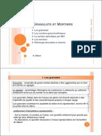 Chap.ii- Granulats Et Mortiers