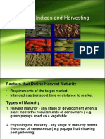 Lecture 2 Maturity Indices and Harvesting