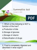 Summative Exam 4th