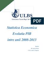 Evolutia PIB intre anii 2008-2013
