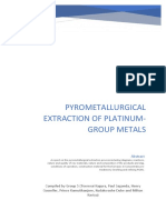 Pyrometallurgical extraction of PGM assignment