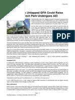 The Edge Sabana REIT's Untapped GFA Could Raise NAV as New Tech Park Undergoes AEI 18 Nov 2019