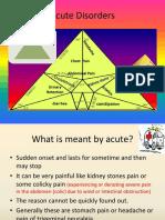 Acute disorders by Kiran Phalke