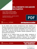 PROYECYO FINAL RESISTENCIA DEL CONCRETO CON ADICIÓN PORCENTUAL DE PLÁSTICO.pptx
