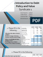 Syndicate 1 An Introduction to Debt Policy and Value.pptx
