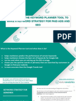 How to Use the Keyword Planner Tool to Make a Keyword Strategy for Paid Ads and SEO