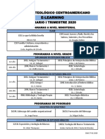 Horario I Trimestre 20, E-Learning