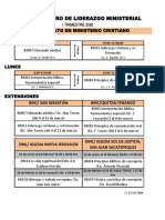 Horario I Trimestre 20, CLM, BMC y Extensiones