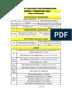 Horario I Trimestre 20, Grado, Extensiones
