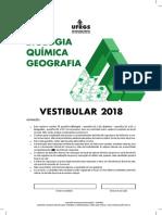 Vestibular 2018 BIO-QUI-GEO