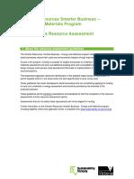 SRSB EM Conducting a Resource Assessment Dec 13