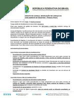REG PF_FORM08 - LICENÇA, RENOVAÇÃO DE LICENÇA OU CANCELAMENTO DE REGISTRO
