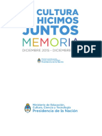 Memoria Cultura 2014-2019