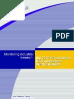 2010 European R&D Scoreboard