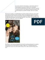 The Fault In Our Stars is a novel written by John Green.docx
