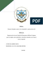 ROL DE FUERZAS ARMADAS EN EMERGENCIAS