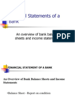4. Financial Statement of a Bank