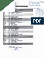 Documentul cu gărzile, din care lipsesc rezidenții