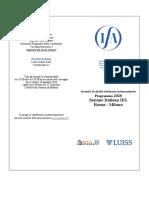 Programma definitivo degli incontri mensili IFA 2020