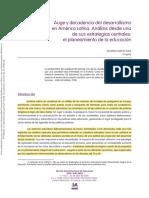 Teske-Auge y decandencia del desarrollismo en América Latina