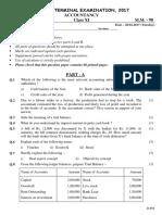 sample paper commerce class 11th CBSE