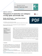 Eldosouky - Management of Construction Cost Contingency Covering Upside and Downside Risks