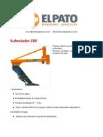 Subsolador Z80 - El Pato Maquinarias